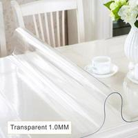 Transparent soft glass tablecloth chrysanthemum pattern transparent household waterproof tablecloth PVC table mat crystal board