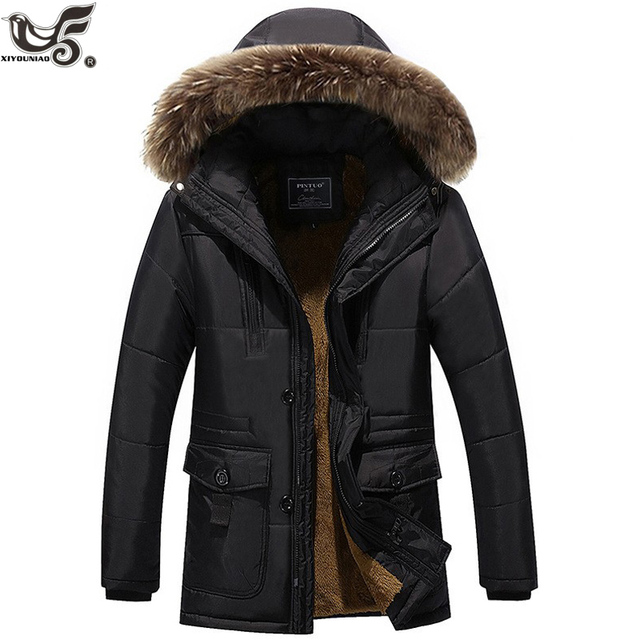 XIYOUNIAO winter jacket Middle age Men Plus thick warm coat jacket men's casual hooded parka coat jacket large size 6XL 7XL 8XL