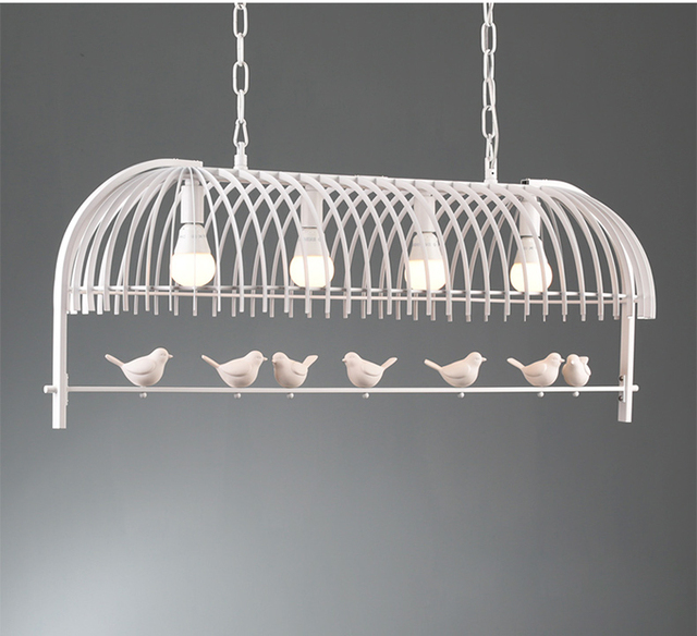Phube Lighting Nordic Creative Bird Chandeliers Candle Lustre Light Free Shipping