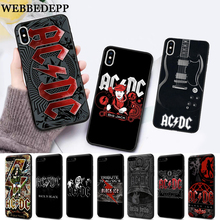 WEBBEDEPP Music Band ACDC Silicone soft Case for iPhone 5 SE 5S 6 6S Plus 7 8 11 Pro X XS Max XR