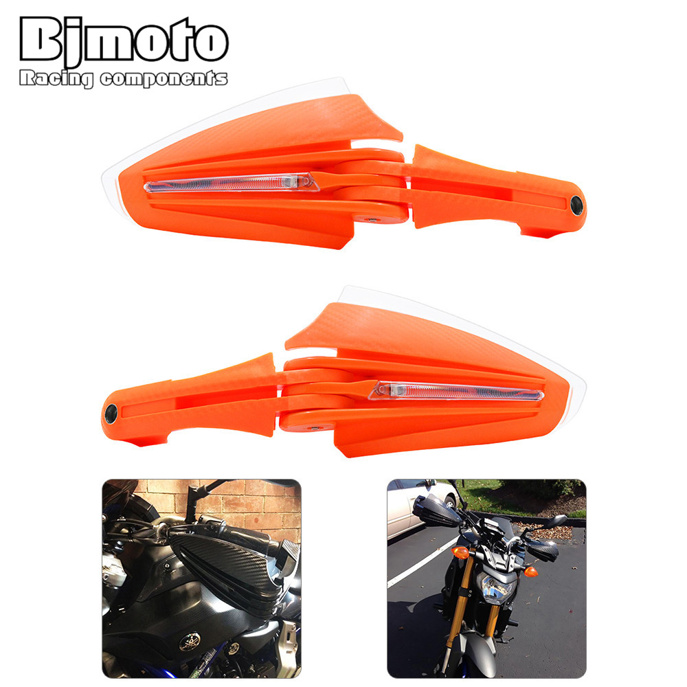 HG-017-OR  Motorcycle Motocross Dirt Bike Handguards 7/8 22mm Handlebar Hand Guard Protector with LED Turn Signals White Light clever книга чуковский к и тараканище с 3 лет