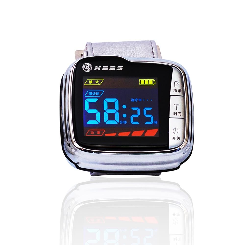 Hot sale wrist type laser watch istrument to reduce high sugar blood health&