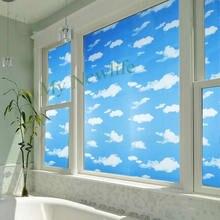 Матовая стеклянная пленка для окна небо и облако защитные наклейки