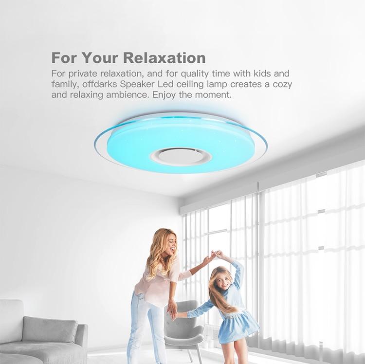 HTB18QAlba67gK0jSZFHq6y9jVXaj Smart led ceiling Light RGB Dimmable 25W 36W 52W APP control Bluetooth & Music modern Led ceiling lamp living room/bedroom 220v