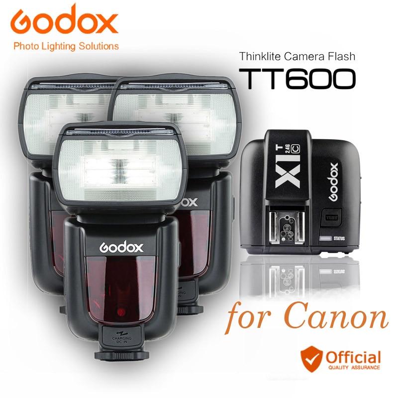 3*Godox TT600 2.4G Wireless Camera Flashes Speedlites X1T-C Transmitter Trigger for Canon EOS 5d 6d Mark II 70D 1D 700D Cameras аккумулятор canon lp e6n for eos 5d mark ii eos 5d mark iii eos 7d eos 7d ii eos 6d eos 60d eos 70d