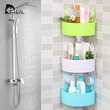 New Hot Sucker Home Bathroom Shower Triangular Shelf Storage Box Shampoo Shower Gel Kitchen Supplies Multipurpose
