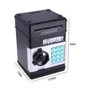Image 5 - Elektronische Sparschwein ATM Mini Geld Box Sicherheit Passwort Kauen Münze Bargeld Ablagerung Maschine Geschenk für Kinder Kinder