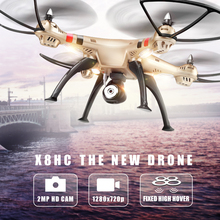 Syma Drone X8HC (X8C Upgrade) with 2MP HD Camera 2.4G 4CH 6Axis RC Helicopter Fixed High Quadcopter RTF Quadrocopter