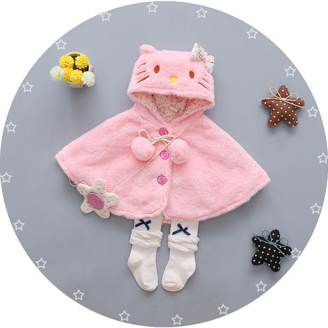 cc9ca6914 Newborn Baby Girls Thick Coat Hooded Cloak Poncho Jacket Outwear ...