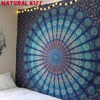 New Indian Mandala Arazzo Hippie Decorativo Per La Casa Appeso A Parete Spiaggia Della Boemia Zerbino Yoga Zerbino Copriletto Panno di Tabella 205x150 CM
