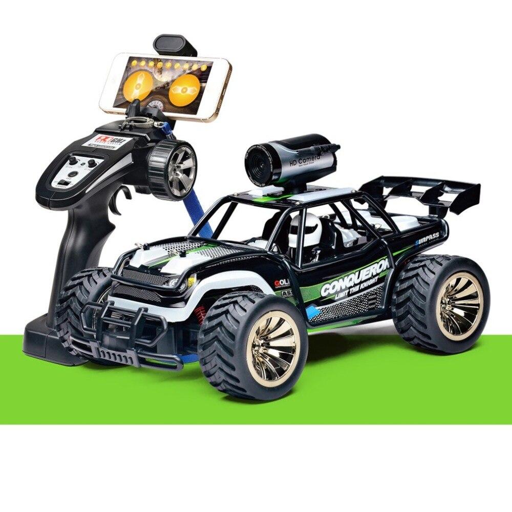 OCDAY WIFI caméra contrôle vert/rouge voiture en temps réel transmission 2.4G haute vitesse 1:16 modèle