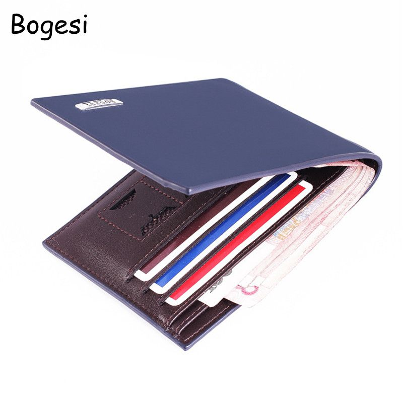 Bogesi Classic Business Men's Wallet With Coin Pocket Solid Short Men Wallets Luxury Brand Purse With Card Holder Dollar Price цена и фото