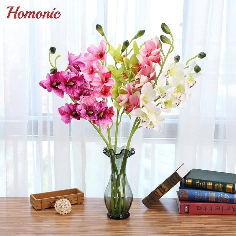Orchidée artificielle fleurs de Soie Faux Fleurs DIY Artificielle Décoration Papillon Orchidée Bouquet Décoration De Mariage À La Maison