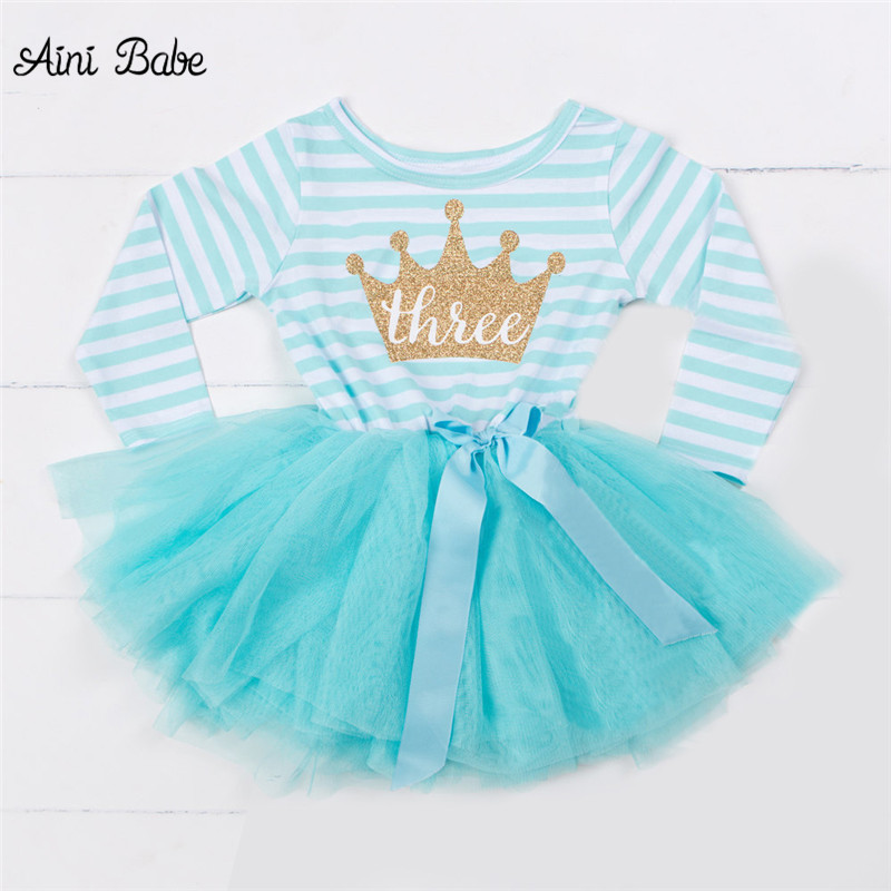 Aini Babe Brand Baby Girl Baptism Dress For 1 2 3 Year Birthday Party Children's Costume For Girl Newborn Toddler Outfit Vestido рубашка детская babe city 008 1 2 3 4