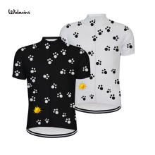 2018 cycling jersey pro team summer short sleeve mountain bike clothing bicycle Dog footprints 5237