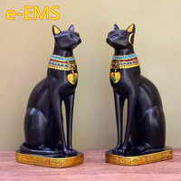 American Egyptian God Cat Bastet Colophony Crafts Creative Sculpture Schoolroom Decoration G1764