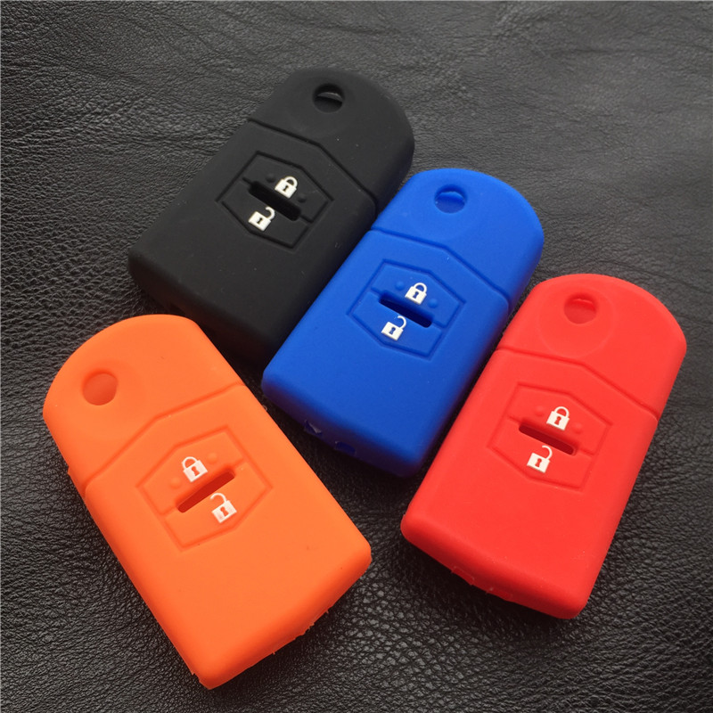 Silicone rubber car key cover case for MAZDA M3 M5 M6 2 3 5 6 M2 2 button key cover case image