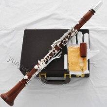 Профессиональная Роза деревянный кларнет серебро 19 ключ стрелы системы с чехлом