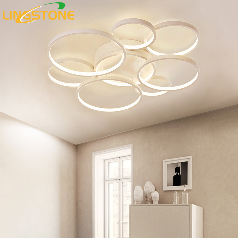 Led Ceiling Lights Modern Ceiling Lamp for Living Room Bedroom Kitchen Lighting Fixtures Free Shipping plafonnier led luminaire dimmable led ceiling lights fixture modern luminaire plafonnier led for living room kitchen bedroom indoor ceiling lamp