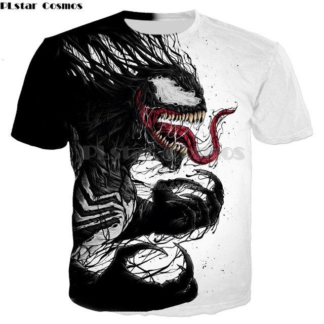 dde9a37b546 PLstar Cosmos Drop shipping 2018 summer new style T-shirt Superhero movie  Venom 3D Print Men Women Harajuku Casual Tee shirts