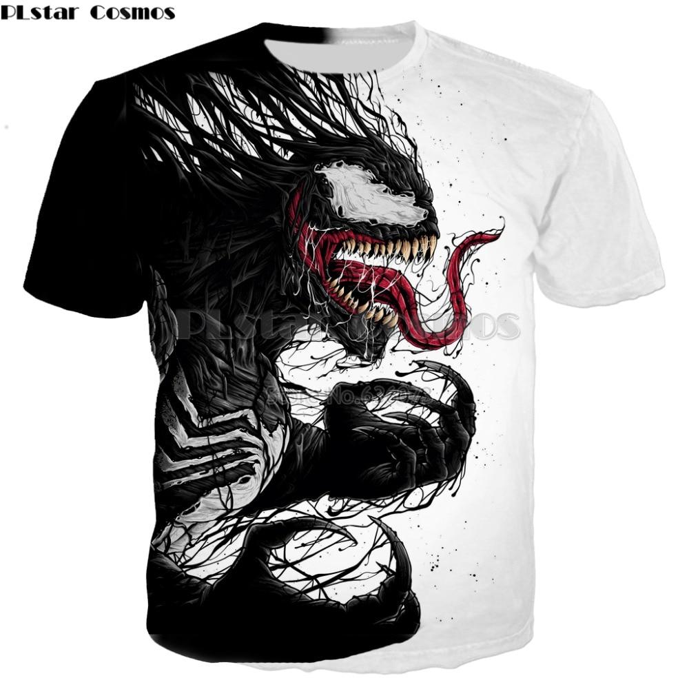PLstar Cosmos Drop shipping 2018 summer new style   T  -  shirt   Superhero movie Venom 3D Print Men/Women Harajuku Casual Tee   shirts