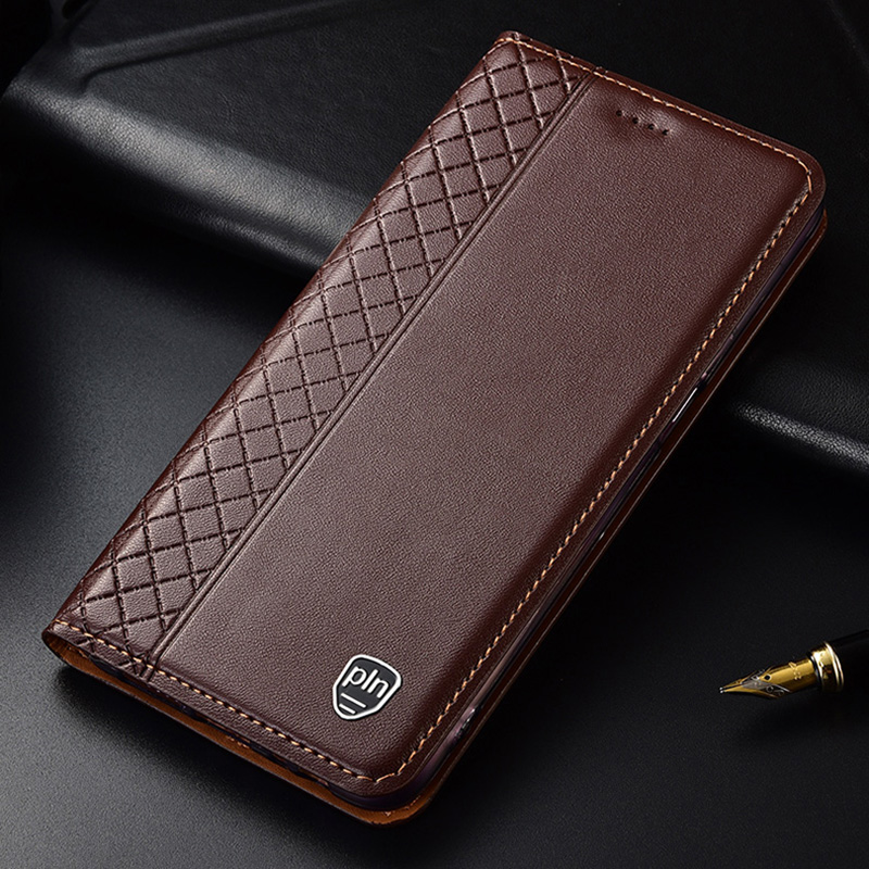 Huawei Honor V10 Case,Flip Genuine Leather Soft Silicon Back Cover for Honor V10 Coque image