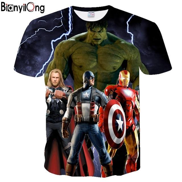 ca55da042fd Avengers T Shirt Ironman Captain America Iron men Hawkeye Black Widow  Marvel T-shirt Super hero Custom Made 3D Print Tee Shirt