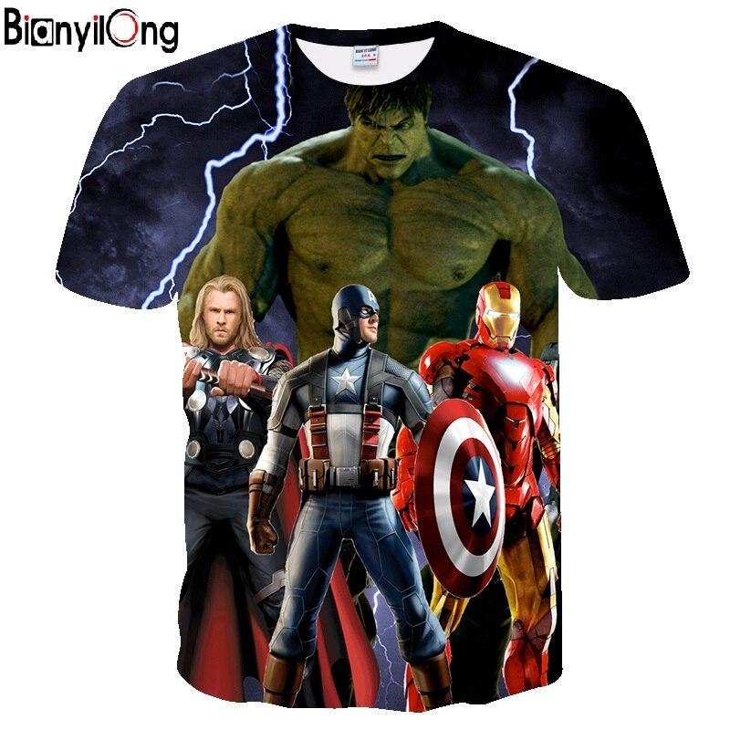 Avengers   T     Shirt   Ironman Captain America Iron men Hawkeye Black Widow Marvel   T  -  shirt   Super hero Custom Made 3D Print Tee   Shirt