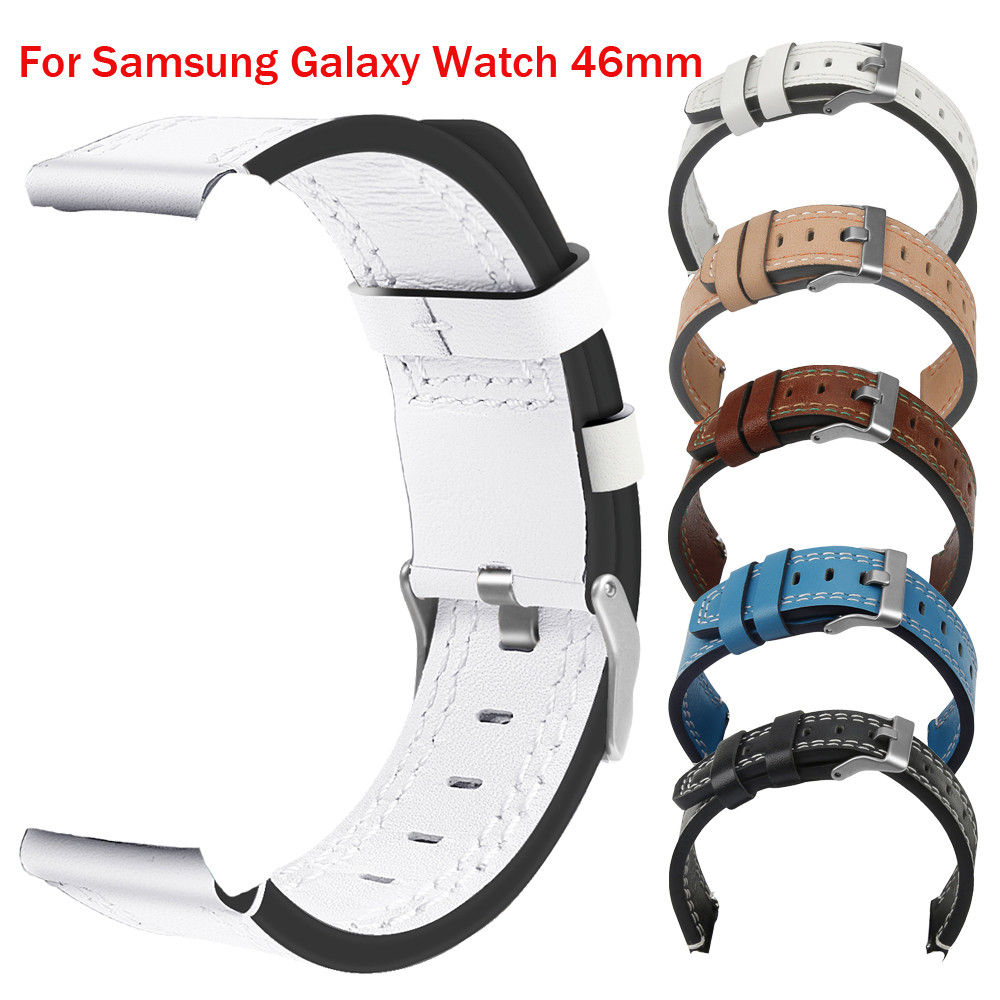 New Luxury Leather Band Bracelet Watch Band For Samsung Galaxy Watch 46mm nato strap leather watch strap gear s3 classic 6pk 33xl compatible ink cartridge for xp530 xp630 xp830 xp635 xp540 xp640 xp645 xp900 t3351 t3361 t3364 for europe printer