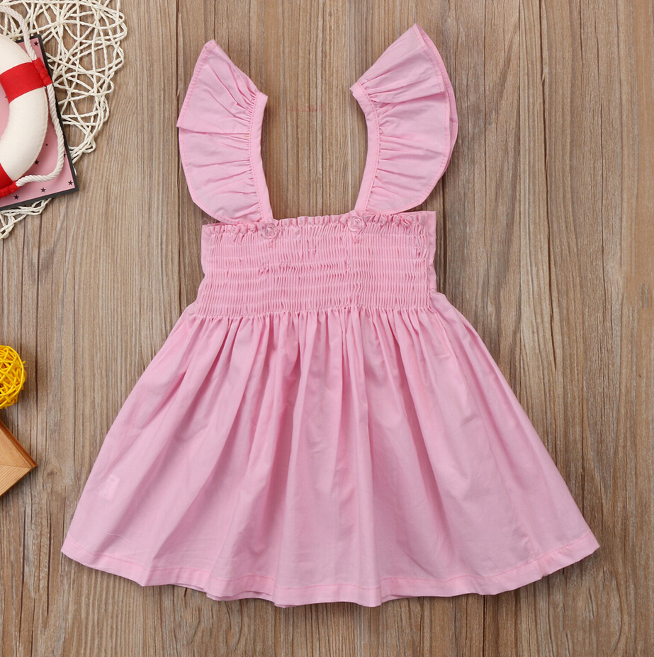 42484632b4c1 Cute Newborn Kids Baby Girl Princess Bowknot Dress Party Girls Summer Dresses  Clothes Outfit Sundress-in Dresses from Mother   Kids on Aliexpress.com ...