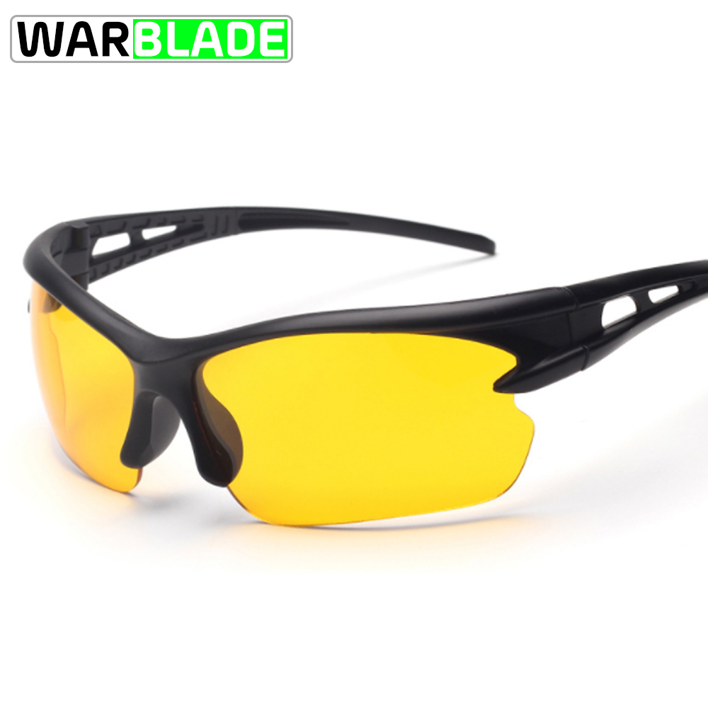 Mens Sunglasses  Black Yellow Lens Driver
