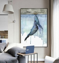 Marine Animals Nordic Modern Simple Style Whale Sailboat Poster Canvas Wall  Home Decoration Combined Poster