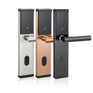 Image 2 - 電子ドアロック、スマート Bluetooth デジタルアプリ Wifi キーパッドコードキーレスドアロック、パスワードキーレスドアロック