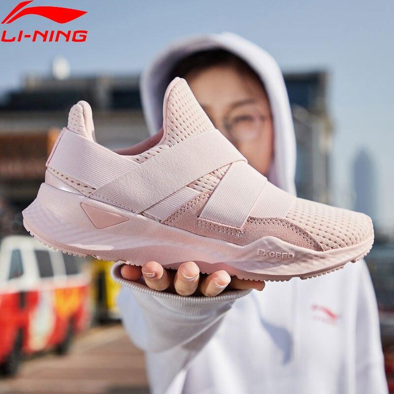 Li Ning Women EXD PRO FT Lifestyle Shoes Classic LiNing Cloud Breathable Cushion Sport Shoes Leisure