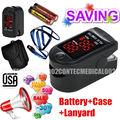 oximetro/oximeter/oximet FREE rubber case 16  BLACK CMS50DL OXYMETRE SATUROMETRE POULS METRE ECO2M Blood Oxygen SPO2 PR Monitor