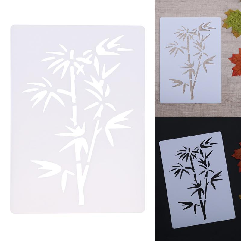 Bamboo Plastic Layering Stencils for Walls Scrapbooking Painting Template Stamp Album Decorative Embossing Paper Card DIY Craft lovely chicken transparent clear silicone stamp seal for diy scrapbooking photo album decorative clear stamp sheets