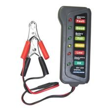 Battery Tester Digital Capacity Tester Checker For 12V Battery Power Supply Tester Measuring Instrument with 6