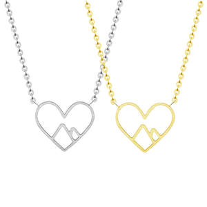 Statement Necklaces Collares Steel Jewelry Gift Heart-Pendant-Anniversary Chain Love