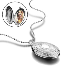 925 Silver Playable Photo Necklace Pure Box Frame  Customized Korean Version Couple Jewelry