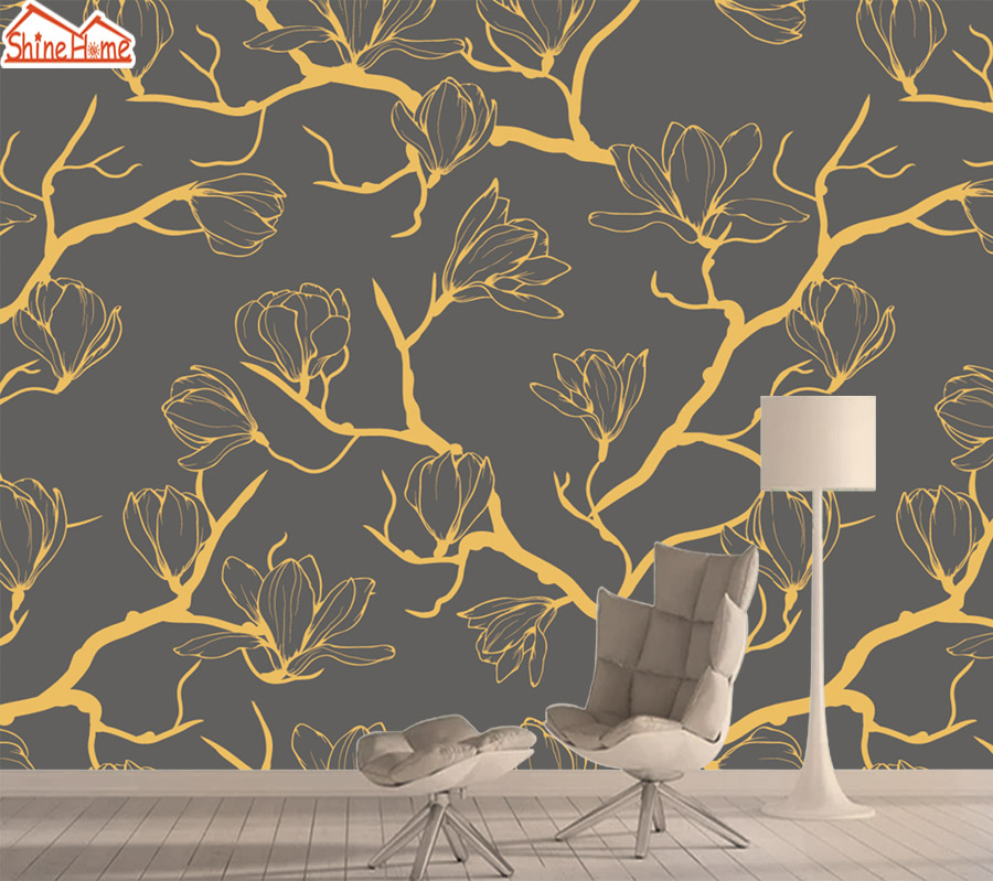 Contact Wall Paper Papers Home Decor Wallpapers 3d Photo Mural Wallpaper For Living Room Murals Walls Paper Rolls Gold Tree Art
