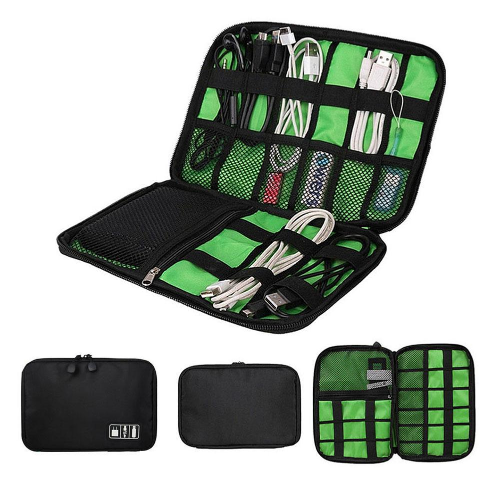 Waterproof Double Layer Travel Wire Storage Bag Electronic Accessories Tool Pouch Organizer Hard Drive Pen Data Cable bags
