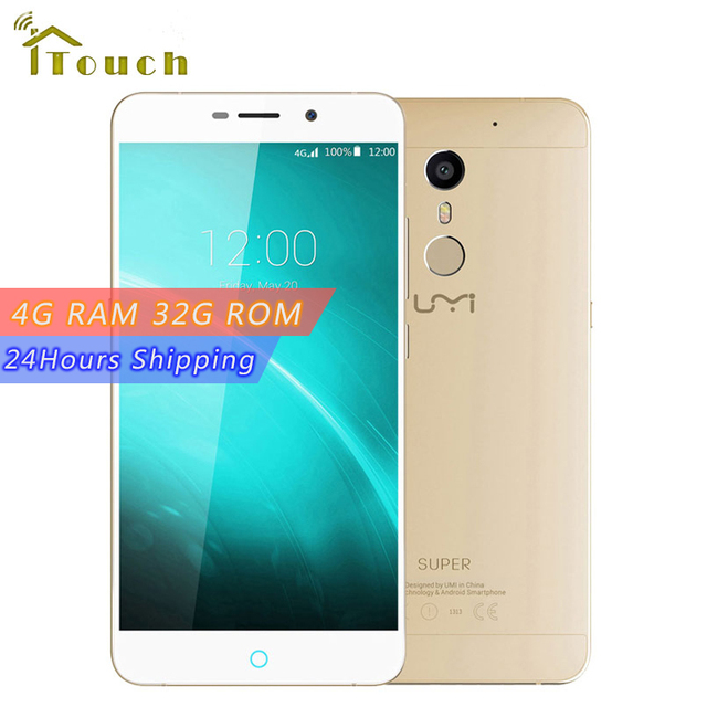 UMI Super 4G LTE MTK6755 P10 Octa Core Metal Mobile Phone 4G RAM 32G ROM 5.5inch FHD 4000MaH Android 6.0 Smartphone
