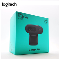 Logitech C270 HD Webcam Gaming Auchor Live Broadcast Web Camera Built in Micphone Network Video Conference Camera