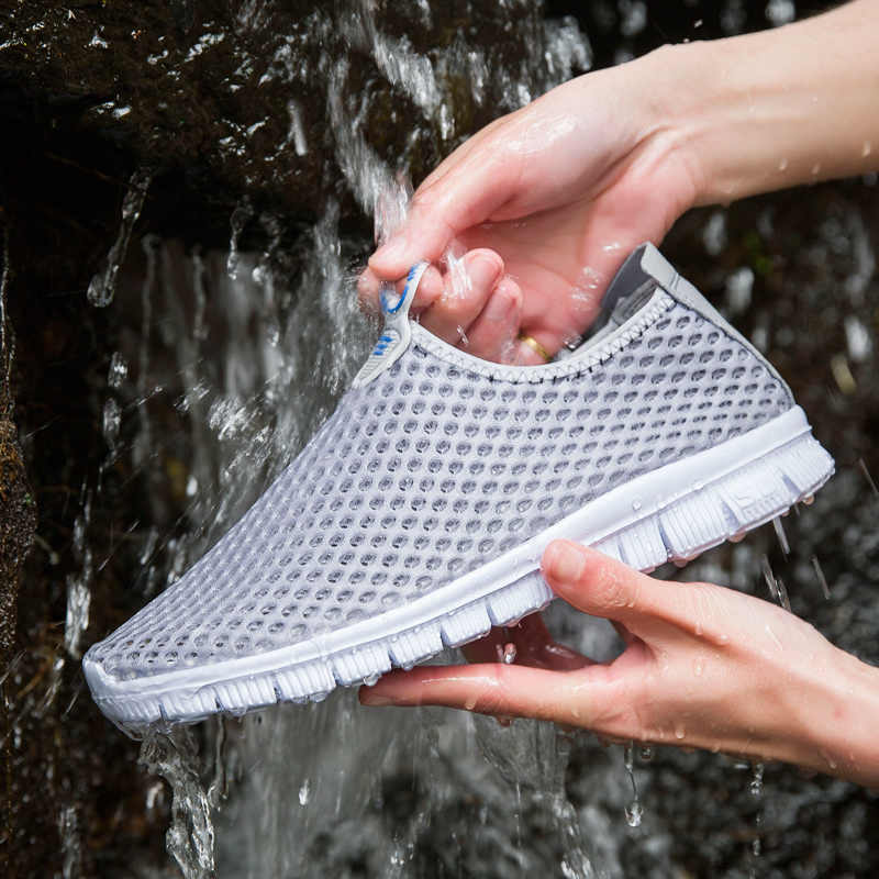 ผู้ชายรองเท้าสบายๆ Breathable ตาข่ายรองเท้าผ้าใบ 2019 ใหม่แฟชั่นรองเท้าแตะ Loafers ขับรถรองเท้าผู้ชาย Zapatos De Hombre ผู้ชายรองเท้า