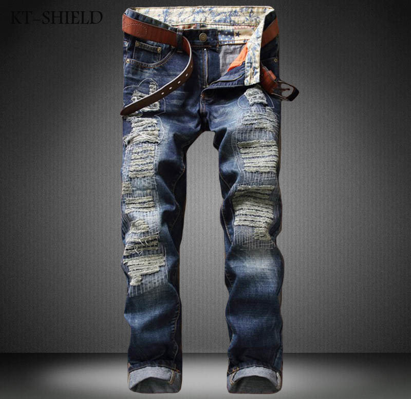 Brands men jeans ripped Biker denim overalls mens skinny jeans winter straight Slim fit hip hop casual pants Pantalones hombre biker jeans mens brand black skinny ripped zipper full length pants hip hop cotton denim distressed pantalones vaqueros hombre