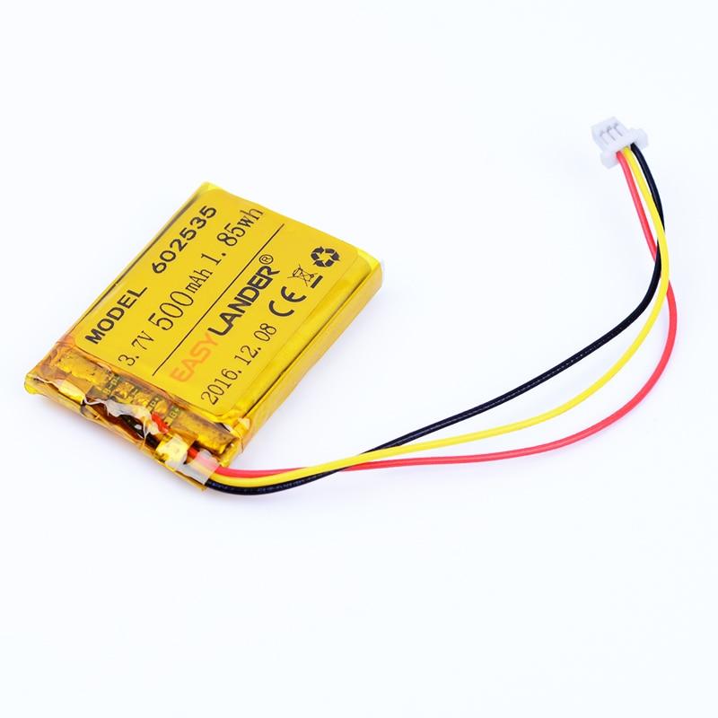 цена на 602535 3.7V 500mAh Rechargeable li Polymer Li-ion Battery For tachograph SP5 Mio MiVue 366 368 388 358P F210 GPS 062535 602435