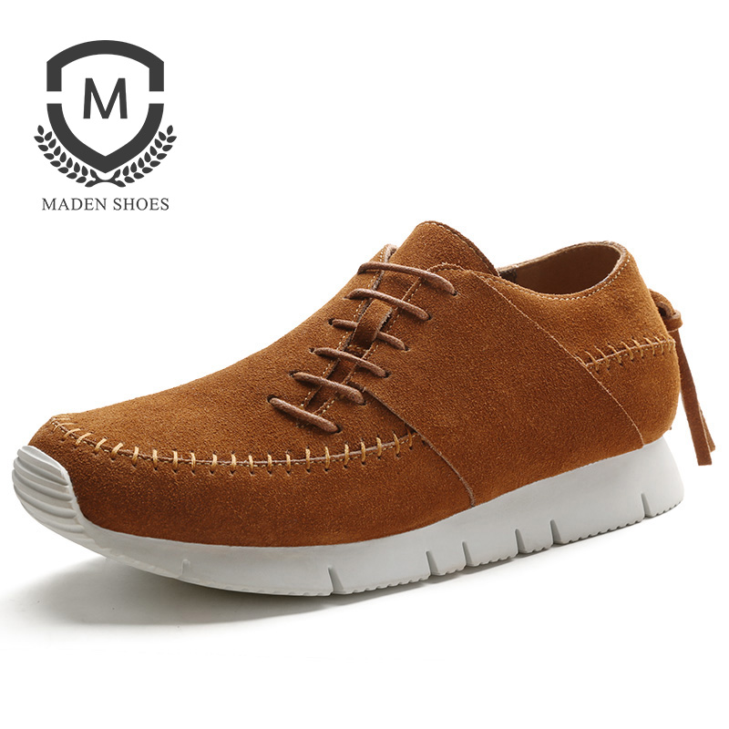 Maden Brand 2017 Spring/Autumn Designer Fashion Mens Casual Shoes Lace Up Comfortable Suede Driving Shoes Breathable Male Shoes maden brand 2017 spring autumn designer fashion mens casual shoes lace up comfortable suede driving shoes breathable male shoes