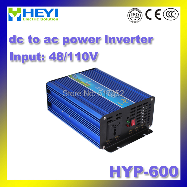 цена на dc to ac power inverter HYP-600 48V/110V power 600W 50/60Hz pure sine wave inverter Efficiency: > 90% micro inverter