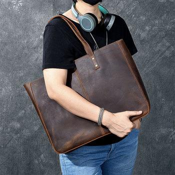 Famous Brand Genuine Leather Handbag Bolsas Mujer Large Vintage Shoulder Bags Women Shopping Tote Purse sac a main