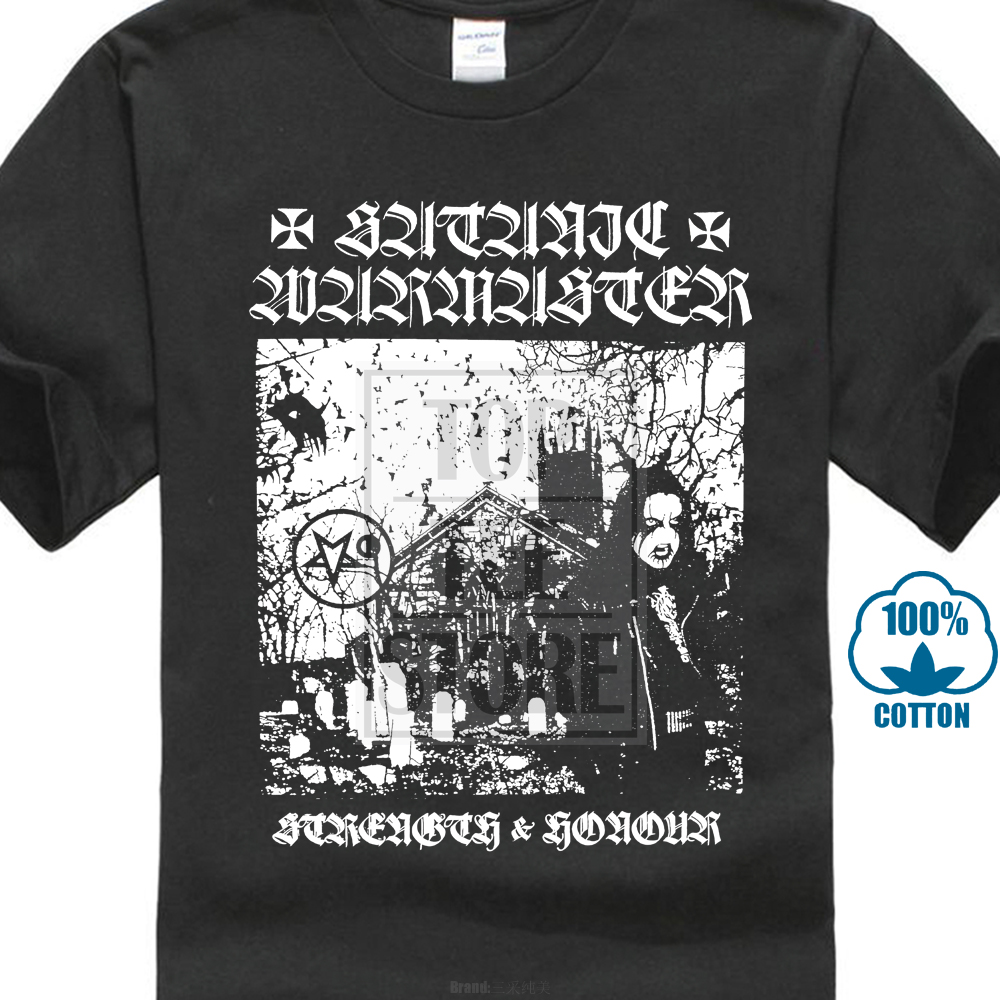 Satanic Warmaster Strength And Honour 2001 Album Cover T Shirt